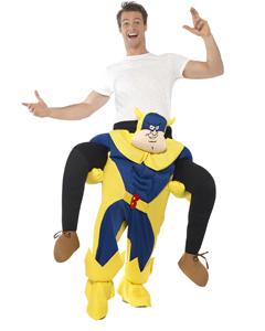 Beano Adult Bananaman Piggy Back Costume