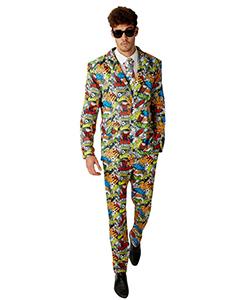 Beano Adult Dennis Fancy Dress Suit & Tie
