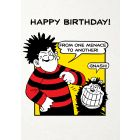 Beano - 'From One Menace To Another' Birthday Card