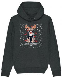 Personalised Gnasher Christmas Black Hoodie