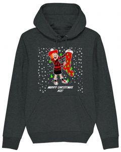Personalised Minnie Christmas Black Hoodie