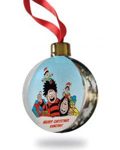 Personalised Dennis & Gnasher Christmas Bauble