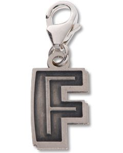 Beano Comic Book Letter 'F' Silver Charm