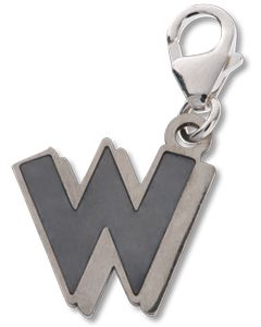 Beano Comic Book Letter 'W' Silver Charm