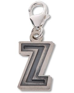 Beano Comic Book Letter 'Z' Silver Charm