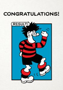 Beano 'Congratulations Result' Card