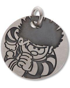 Beano Dennis Round Mini Silver Tag