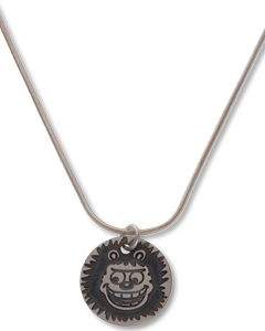 Gnasher Round Silver Mini Tag Necklace