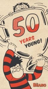 Beano - Beano '50 Years Young' Birthday Card