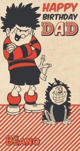 Beano - Beano 'Happy Birthday Dad' Card