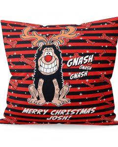 Personalised Gnasher Christmas Cushion