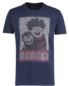 Adult Dennis & Gnasher Navy Popcorn T-Shirt