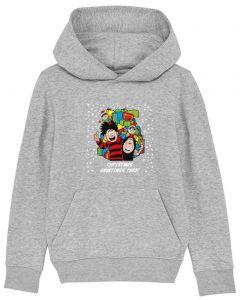 Personalised Dennis & Gnasher Christmas Kids Grey Hoodie