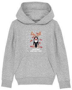 Personalised Gnasher Christmas Kids GreyHoodie