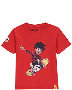 Kids Dennis & Gnasher Skateboard T-Shirt