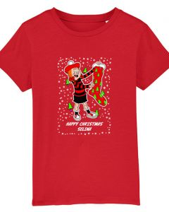 Personalised Minnie Christmas Red T-Shirt