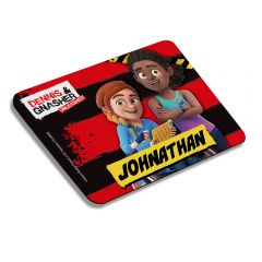 Dennis & Gnasher Unleashed Personalisable Mouse Pad - Rubi & JJ