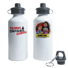 Dennis & Gnasher Unleashed Water Bottle - Rubi & JJ