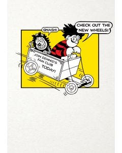 "Beano ""Check Out The New Wheels"" Greeting Card"