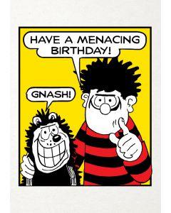Beano 'Have A Menacing Birthday' Card