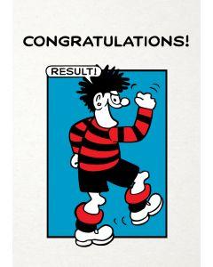 Beano 'Congratulations Result' Card