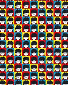 Beano Dennis Colour Block Gift Wrap Roll
