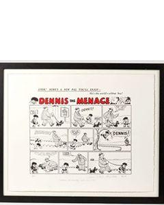 Beano Dennis the Menace First Comic Strip Print