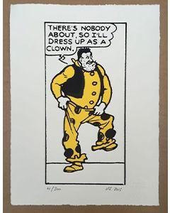Beano Desperate Dan Dress Up As A Clown Print - Thumbnail