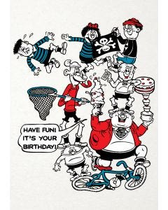 "Beano - Basher Kids ""Have Fun! It's Your Birthday"" Card"