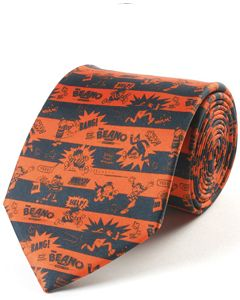Beano Black & Red Silk Tie
