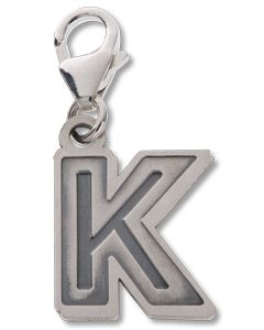 Beano Comic Book Letter 'K' Silver Charm