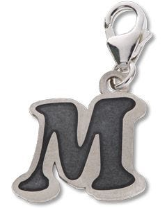 Beano Comic Book Letter 'M' Silver Charm