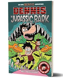 Beano 'Dennis In Jurassic Bark' Book - Thumbnail