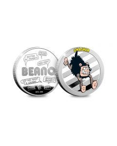 Beano Gnasher Silver-Plated Collectable Medal