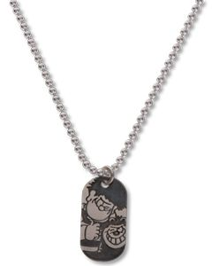 Beano Mini Silver Dennis & Gnasher Tag Necklace