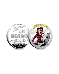 Beano Minnie the Minx Silver-Plated Collectable Medal