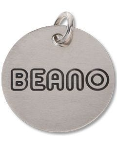 Beano Round Mini Silver Tag