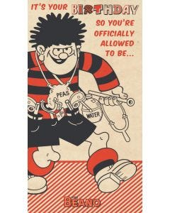 Beano - Beano 'You're Officially Allowed To Be...' Birthday Card