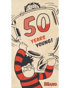 Beano - Beano '50 Years Young' Birthday Card