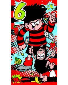 Beano - Beano '6 Today' Birthday Card