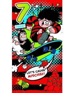 Beano - '7 Today' Birthday Card