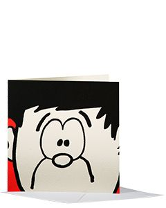 Beano Dennis Has An Idea Greeting Card