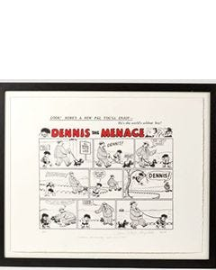 Beano Dennis the Menace First Comic Strip Print