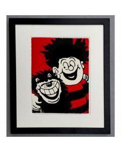 Dennis Hugs Gnasher Print