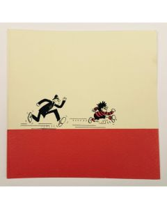 Beano Dennis Chased by a Copper Greeting Card - Thumbnail