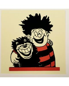Dennis Hugs Gnasher Greeting Card
