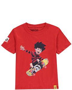 Kids Dennis & Gnasher Skateboard T-Shirt