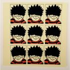 Dennis the Menace Face Collage Greeting Card
