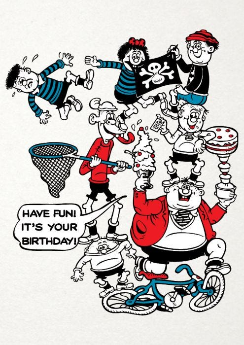 Beano Basher Kids Have Fun Its Your Birthday Card