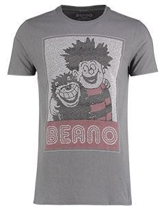 Adult Dennis & Gnasher Charcoal Popcorn T-Shirt